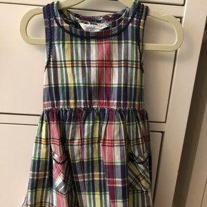 Plaid girls Ralph Lauren dress 18mmth